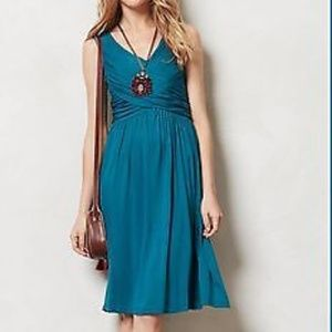 Anthropologie Girls from Savoy blue wrap dress